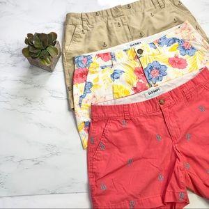 Three Nautica/ Old Navy patterned shorts bundle